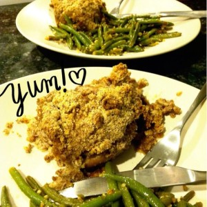{CE #2} Almond Meal Baked Chicken