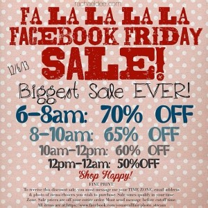 Facebook Friday Sale RULES