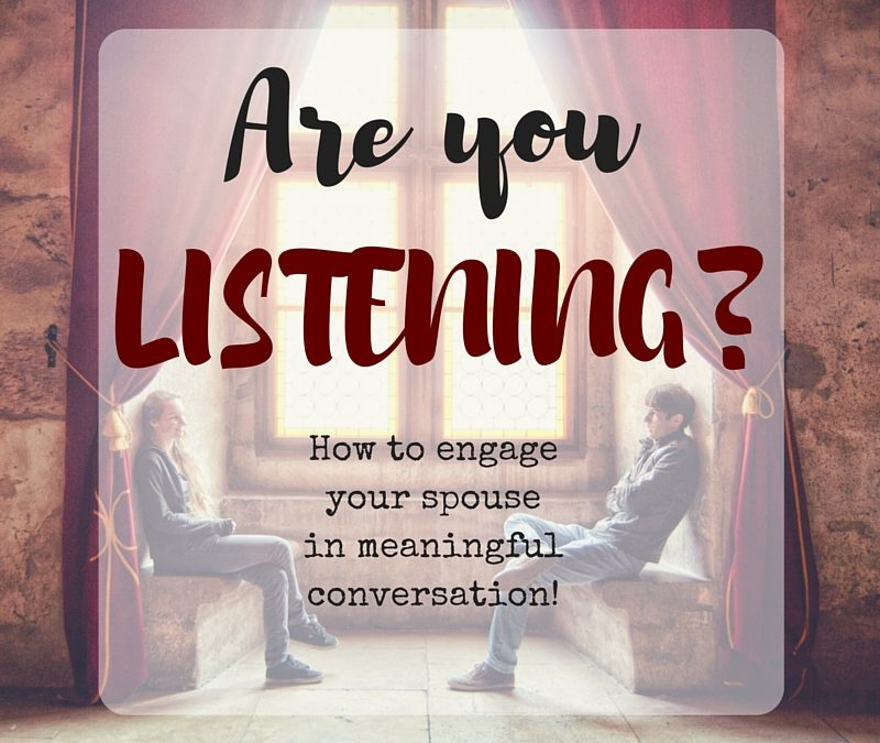 Are you LISTENING to your spouse??