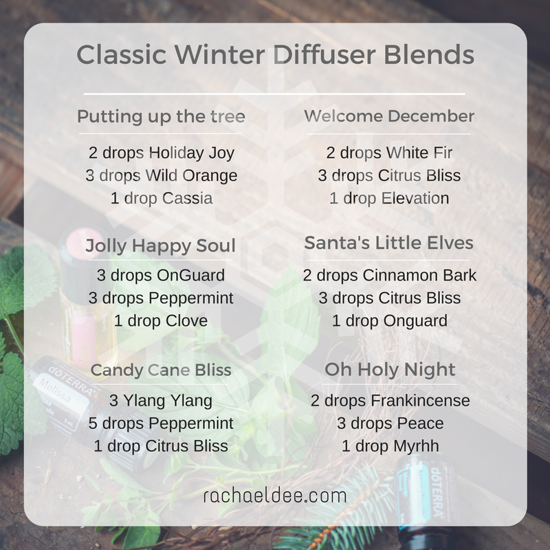 Classic Winter Diffuser Blend With Essential Oils Perfect