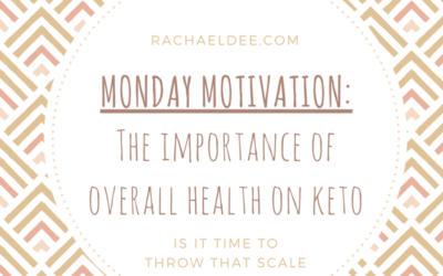 Monday Motivation! Why should we focus on our overall health and not just weight loss?