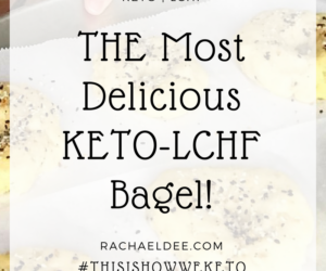 THE Most Delicious KETO-LCHF Bagel!