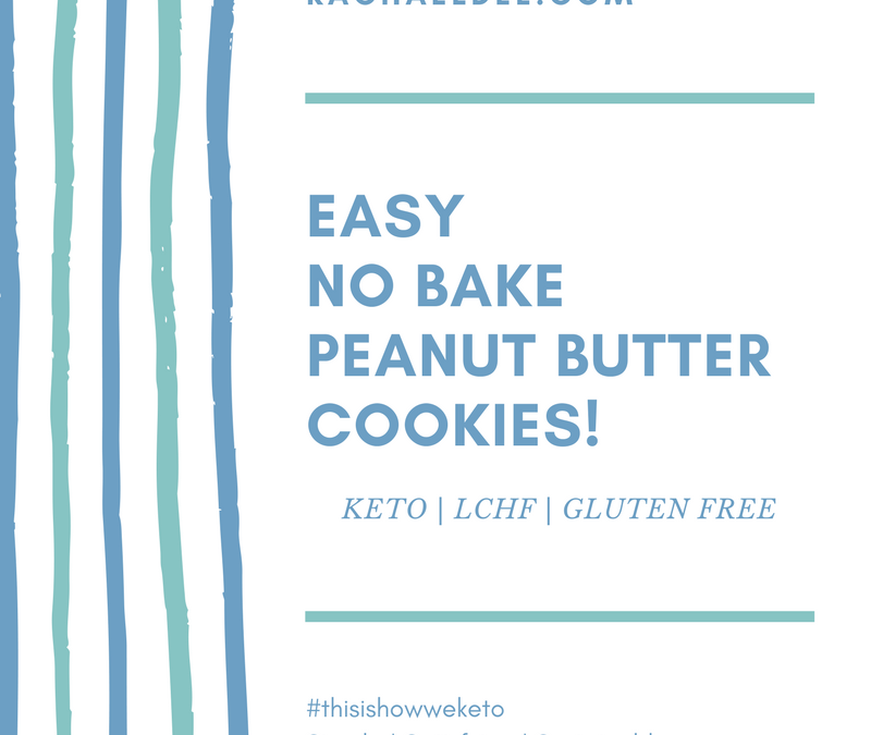 Easy NO BAKE peanut butter cookies!
