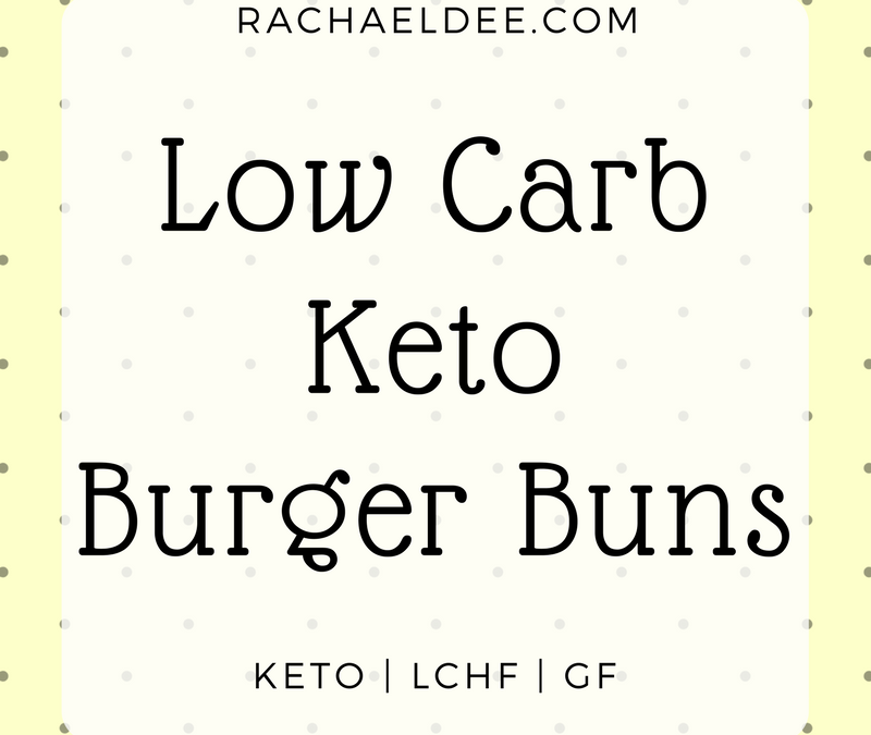 Low carb, Keto burger buns!